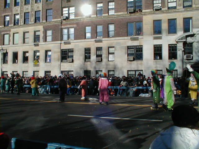 Clowns leading the parade